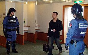 GWのフェリー乗船警備始まる テロ犯罪などを防止