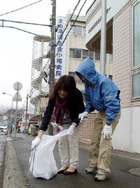 北海道済生会小樽病院 清掃ボランティア
